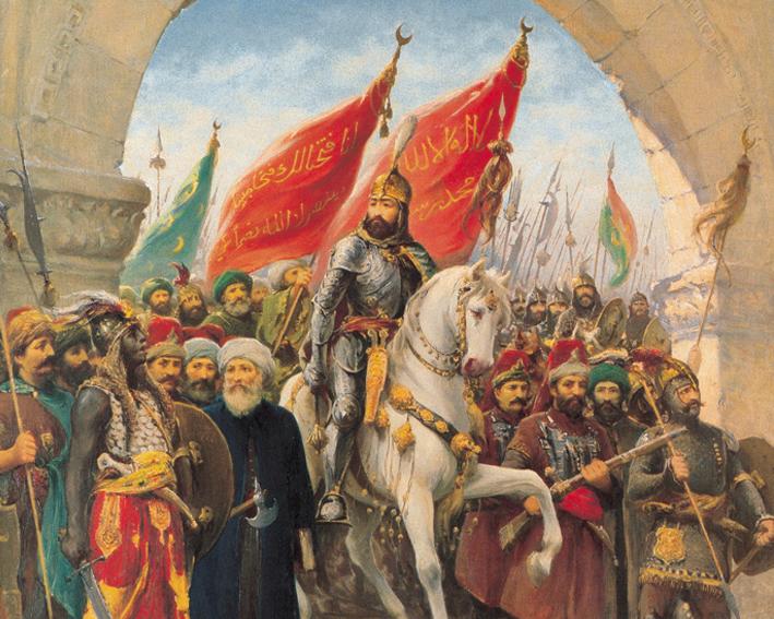 6.fatih'in edirnekapi'dan şehre girişini tasvir eden tablo